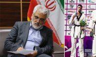 تبریک دکتر طهرانچی به دانشجوی قهرمان دانشگاه آزاد اسلامی جویبار