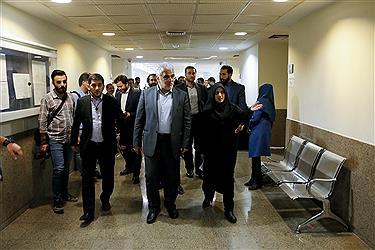 بازدید دکتر طهرانچی از روند برگزاری مصاحبه آزمون دکتری دانشگاه آزاد اسلامی
