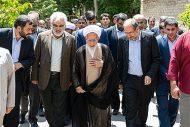 دیدار رئیس و اعضای هیأت رئیسه دانشگاه آزاد اسلامی با آیتالله جوادی آملی