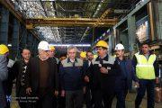 بازدید رییس دانشگاه آزاد اسلامی از کارخانجات ذوب آهن اصفهان
