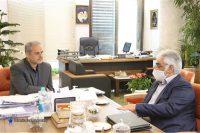 دکتر محمدمهدی طهرانچی، رئیس دانشگاه آزاد اسلامی با کاظم خاوازی، وزیر جهاد کشاورزی دیدار و گفتگو کرد